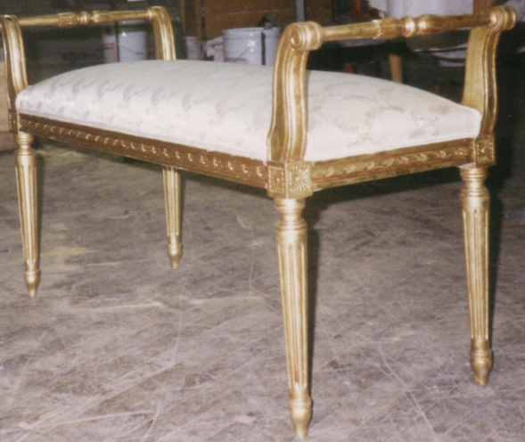 Royal Furniture Refinishing -- Toronto -- Repairs, restorations and refinishing services - Gold leaf